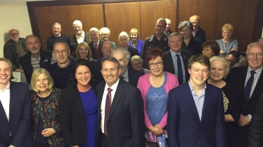 re-adoption meeting for Dr Liam Fox